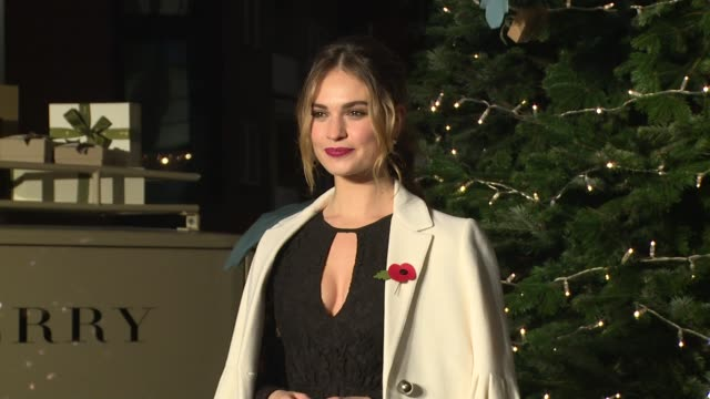Lily James at Harrods on November 03 2016 in London England