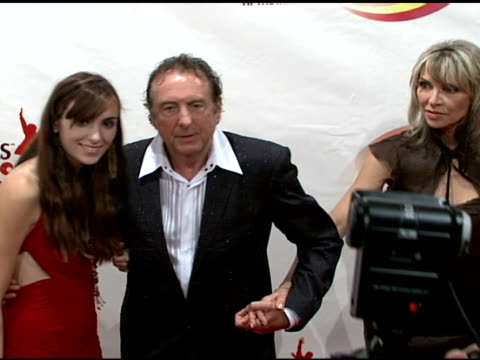 lily kosevich eric idle and tania kosevich at the 'love' cirque du soleil celebratation of the musical legacy of the beatles at the mirage hotel and... - eric idle stock-videos und b-roll-filmmaterial