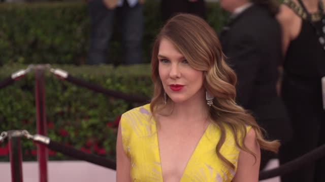 lily rabe at the 22nd annual screen actors guild awards - arrivals at the shrine auditorium on january 30, 2016 in los angeles, california. 4k... - shrine auditorium stock videos & royalty-free footage