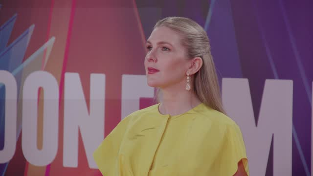 """lily rabe attends """"the tender bar"""" uk premiere during the 65th bfi london film festival at the royal festival hall on october 7, 2021 in london,... - premiere stock videos & royalty-free footage"""