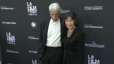 "lily tomlin and sam elliott at the 2015 los angeles film festival - opening night premiere of ""grandma"" at regal cinemas l.a. live on june 10, 2015... - sam elliott stock videos & royalty-free footage"