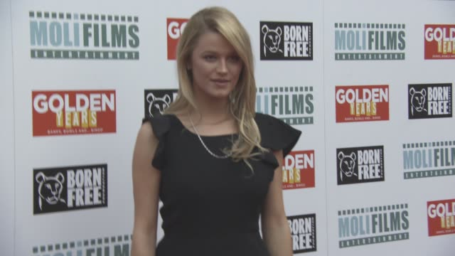 lily travers at 'golden years' premiere on april 14 2016 in london england - lily stock videos & royalty-free footage