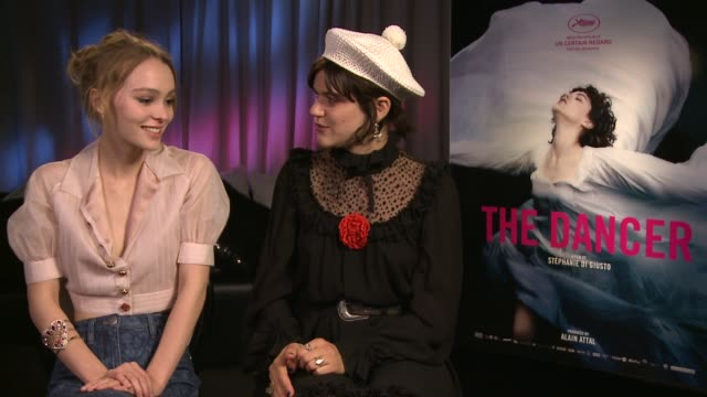 INTERVIEW LilyRose Depp Soko on working together and on their characters at 'The Dancer' Interviews at JW Marriott on May 14 2016 in Cannes France