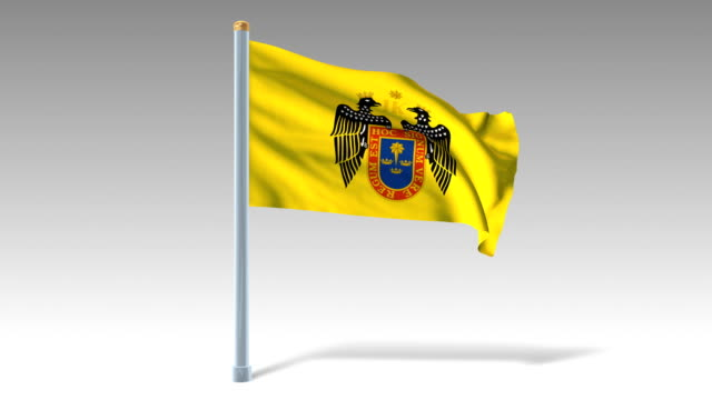 Lima flag waving (luma matte included so you can put your own background)