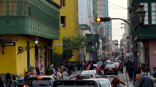 lima historical city center - lima peru stock videos and b-roll footage