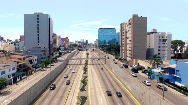 lima peru cityscape freeway - lima peru stock videos and b-roll footage