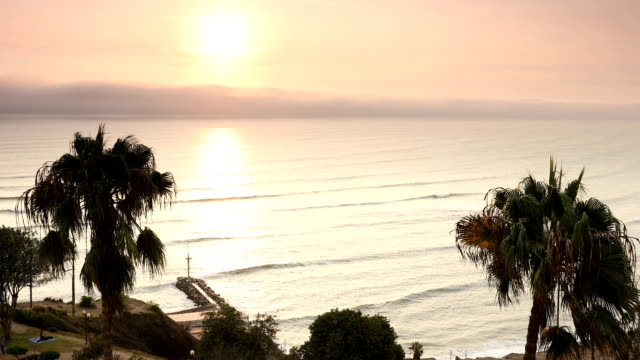 lima peru sunset miraflores - south america stock videos & royalty-free footage