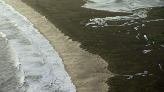 Limantour Beach and wetlands area at Point Reyes National Seashore in Northern California.