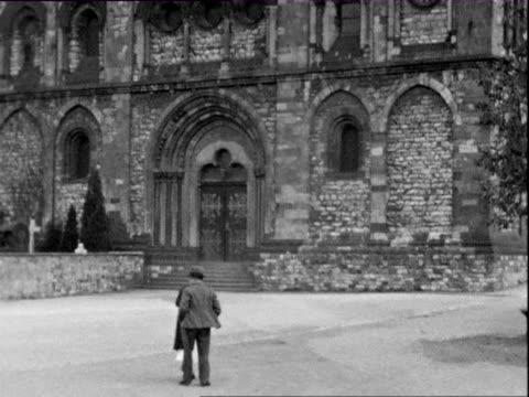1935 b/w montage limburg cathedral / limburg an der lahn, rheinland-pfalz, germany - 1935 stock videos & royalty-free footage