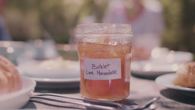 lime marmalade on table - jam stock videos & royalty-free footage