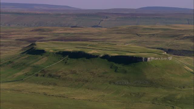 limestone outcrop, addleborough - outcrop stock videos & royalty-free footage