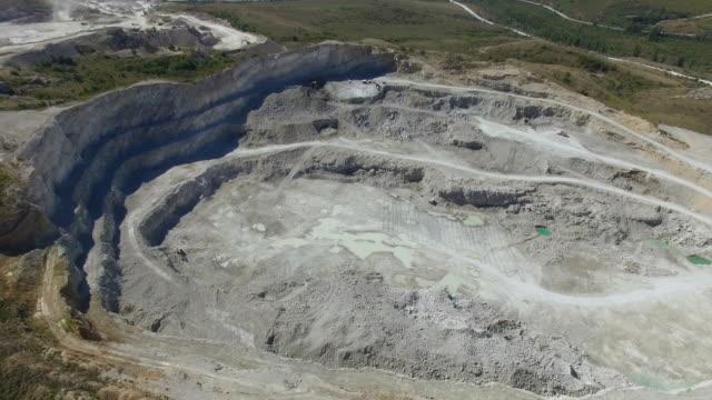 AERIAL: Limestone quarry