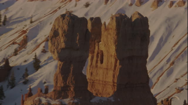 Limestone rock formations in Bryce Canyon, Utah. Available in HD.