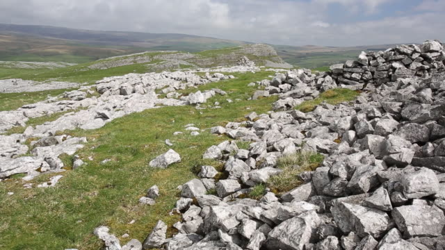 Limestone scenery in the Yorkshire Dales National Park, above Austwick, UK