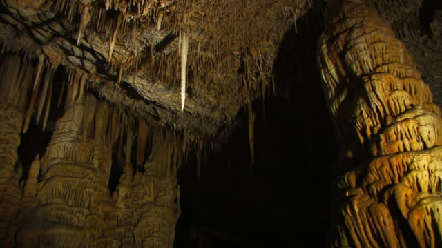 limestone stalactite cave, soreq cave, avshalom reserve, near beit shemesh, israel, - limestone stock videos and b-roll footage