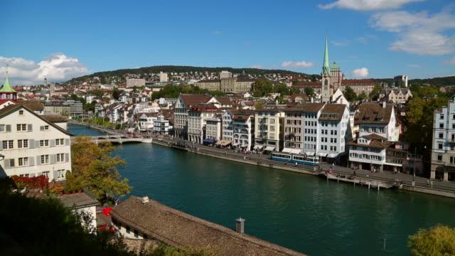 Limmat river in old town Zurich, Switzerland.