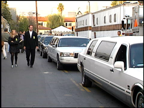 limo at the american music awards at the shrine auditorium in los angeles, california on january 29, 1996. - 1996 stock videos & royalty-free footage