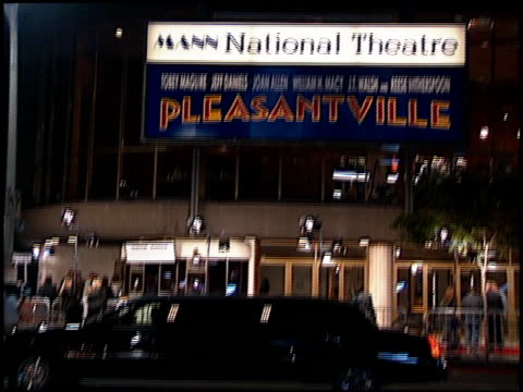 limo at the 'pleasantville' premiere at the mann national theatre in westwood california on october 19 1998 - mann national theater stock videos and b-roll footage