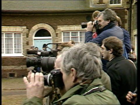 england ms limo with royals in along towards past lines of norfolk wellwishers pan lr to bv away sandringham ms crowd pull out church sandringham av... - norfolk england stock videos and b-roll footage