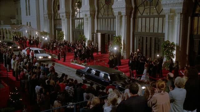 limos pull up at the academy awards. - academy awards stock-videos und b-roll-filmmaterial