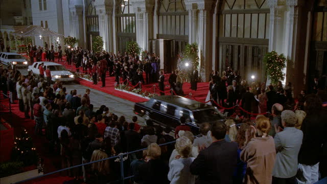 limos pull up at the academy awards. - annual event stock videos & royalty-free footage