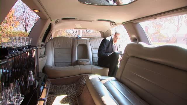 hd: limousine interior - intercom stock videos and b-roll footage