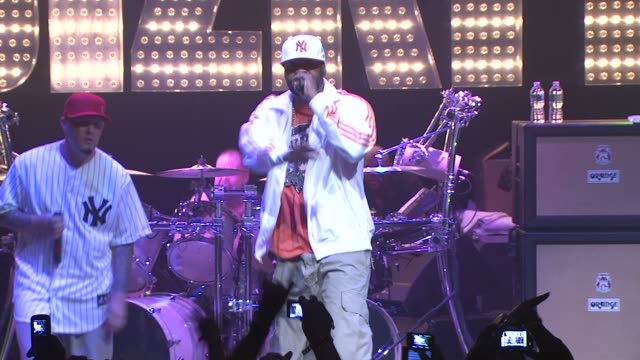 limp bizkit and method man at the limp bizkit announces first major u.s. tour in more than nine years at new york ny. - limp bizkit stock videos & royalty-free footage