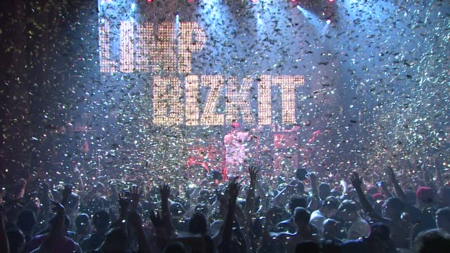 limp bizkit at the limp bizkit announces first major u.s. tour in more than nine years at new york ny. - limp bizkit stock videos & royalty-free footage