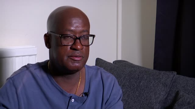 Brother says Met Police must do more to protect victims of domestic violence ENGLAND London INT Ivan Kigenza interview and setup shots with reporter...