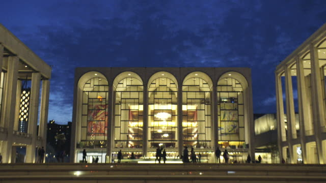 vídeos y material grabado en eventos de stock de lincoln center - establishing shot - museo de arte
