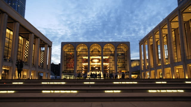lincoln center - time lapse 2 - upper west side manhattan stock videos and b-roll footage