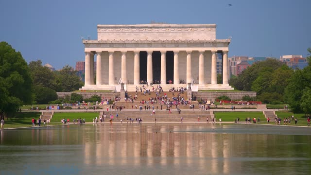 Lincoln Memorial and Reflecting Pool Close Up in Washington, DC