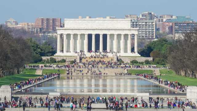 lincoln memorial at the national mall. washington dc - national landmark stock videos & royalty-free footage