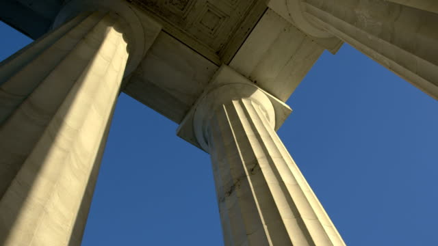 lincoln memorial columns pan - monument stock videos & royalty-free footage