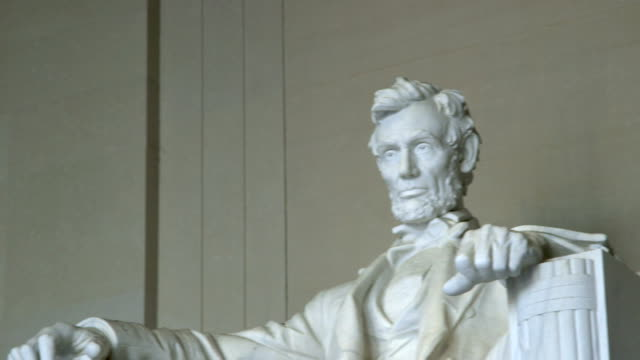 lincoln memorial statue - lincolndenkmal stock-videos und b-roll-filmmaterial