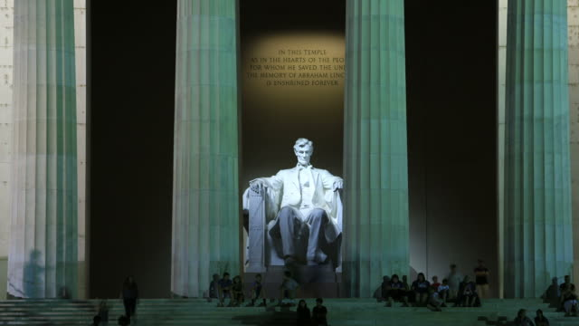 lincoln memorial - lincolndenkmal stock-videos und b-roll-filmmaterial