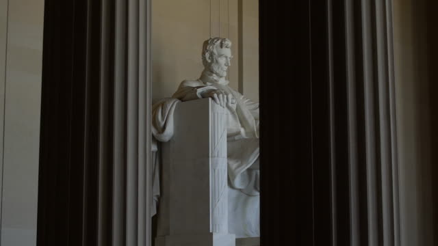 lincoln memorial - statue stock-videos und b-roll-filmmaterial