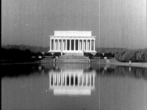 1935 b/w ws lincoln memorial / washington dc, united states / audio - 1935 stock videos & royalty-free footage