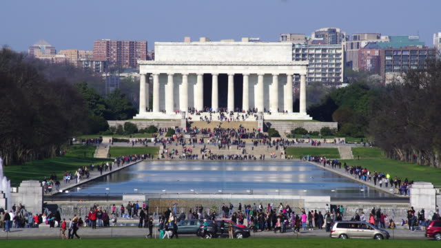 lincoln memorial, washington dc, usa. - national landmark stock videos & royalty-free footage