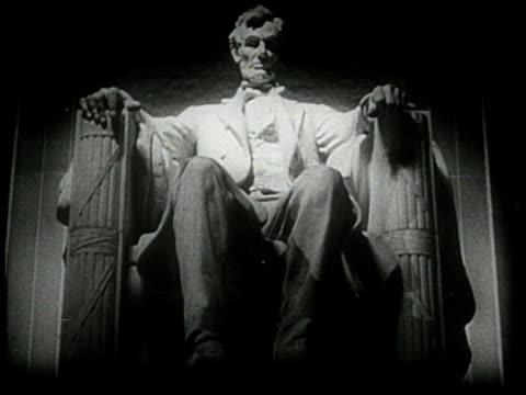 1944 montage lincoln memorial / washington, d.c., usa - lincoln memorial stock videos & royalty-free footage