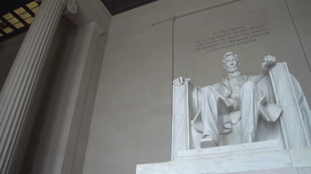 lincoln memorial, washington d.c. - lincolndenkmal stock-videos und b-roll-filmmaterial