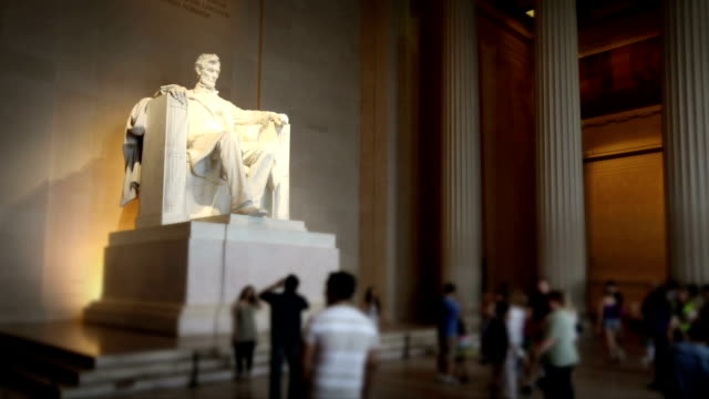 lincoln memorial, das washington, dc - lincolndenkmal stock-videos und b-roll-filmmaterial