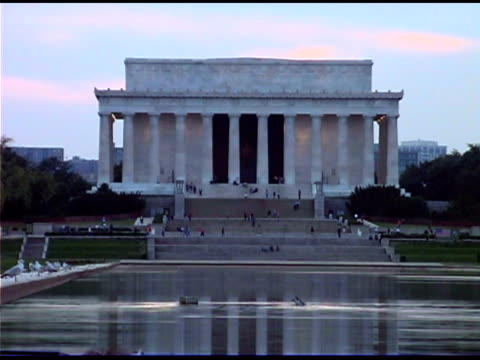 vídeos de stock e filmes b-roll de lincoln memorial, washington dc - atlântico central eua