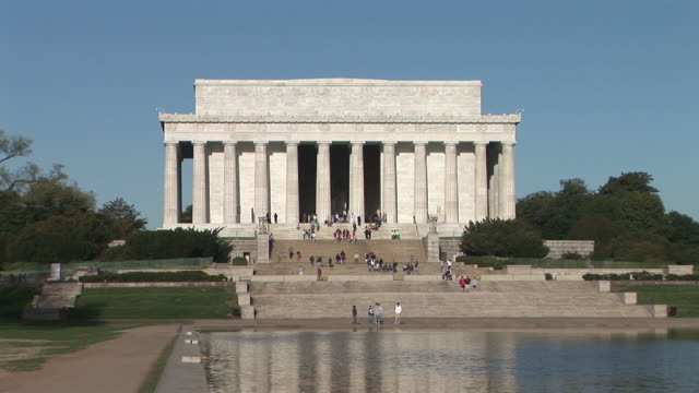 ws, zi, lincoln memorial, washington dc, washington, usa - リンカーン記念館点の映像素材/bロール