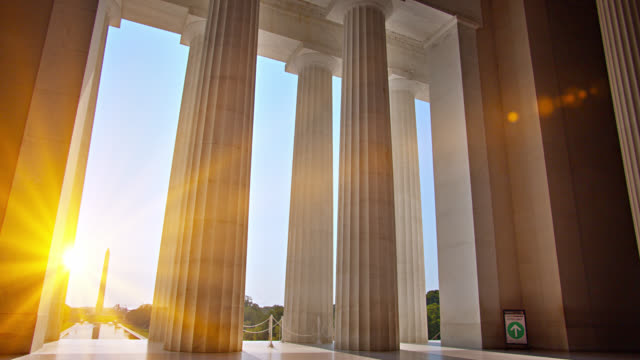 lincoln memorial. washington monument - politics abstract stock videos & royalty-free footage