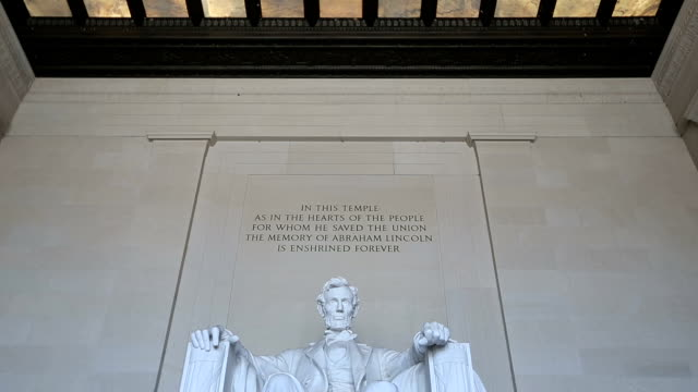 hd vdo: lincoln memorial, washington - lincolndenkmal stock-videos und b-roll-filmmaterial