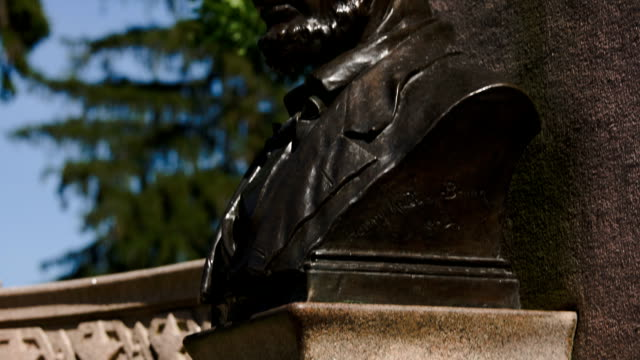 lincoln's gettysburg address memorial tilt up - gettysburg stock videos & royalty-free footage