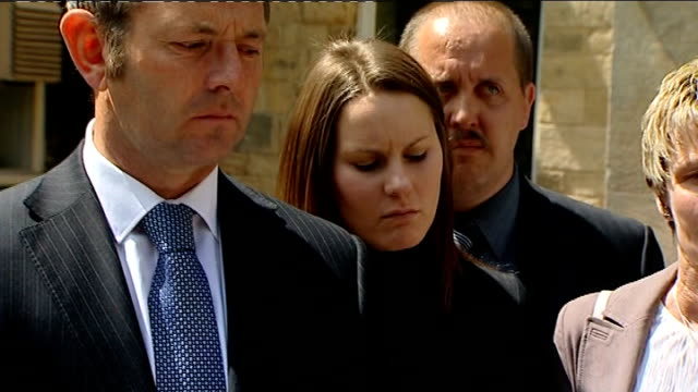 lincolnshire: family of daniel shepherd outside inquest as voice of amy shepherd heard reading out statement sot - lincolnshire stock videos & royalty-free footage