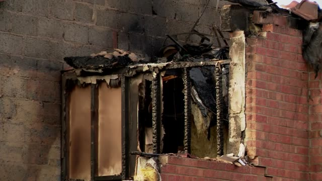 Lincolnshire police launch murder inquiry after house fire kills three people ENGLAND Lincolnshire Kirton EXT Various Fire damaged house Various Fire...