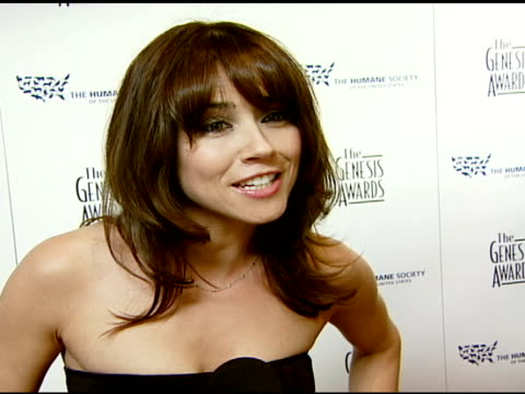 Linda Cardellini her love of animals and people being rewarded for their good work at the 2008 Genesis Awards at the Beverly Hilton in Beverly Hills...
